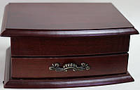 Шкатулка комод, маленькая, деревянная, коричневая, 18х13х8 см, фото 1