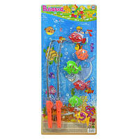 Рыбалка M 0043 U/R 6 рыбок, 2 удочки, 58-24,5см, детский игровой набор , рыбалка
