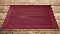 Подставка под тарелки каемка красная 30см*45см, серветка вінілова кухонна