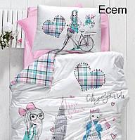 Постельное белье ранфорс First Choice  (полуторное) № Ecem