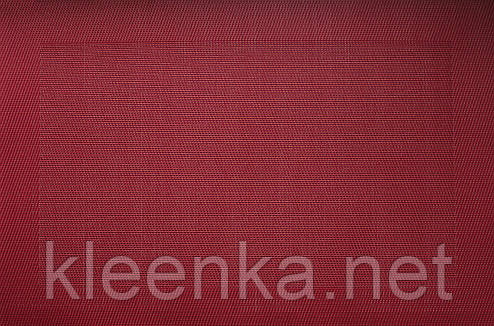 Подставка под тарелки каемка красная 30см*45см, серветка вінілова кухонна, фото 2