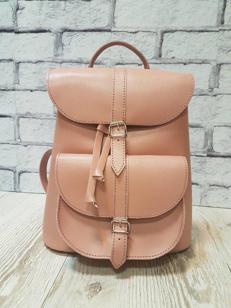Рюкзак жіночий натуральна шкіра рожевий 1624