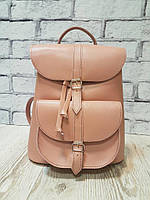 Рюкзак жіночий натуральна шкіра рожевий 1624, фото 1