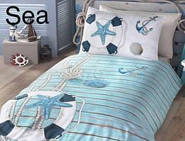 Постельное белье ранфорс First Choice  (полуторное) № Sea