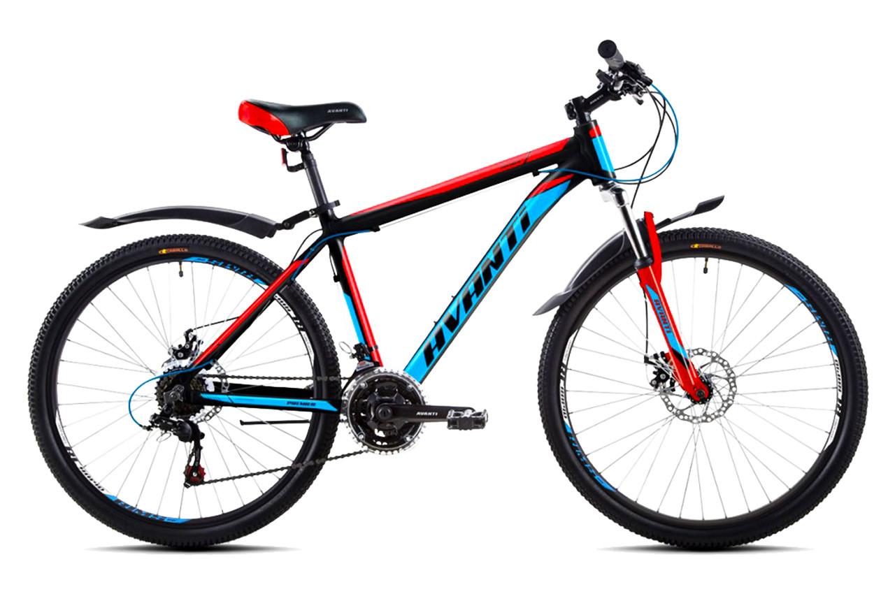 """Горный велосипед  AVANTI  """"PREMIER"""" 26"""" алюминиевый с дисковыми тормозами, Черно-красный"""