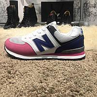 New Balance 574 Blue/Pink (реплика)