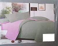 """Евро размер  постельный набор """"Сатин Серый"""""""