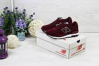 Кроссовки женские New Balance 1400 (бордовые), ТОП-реплика, фото 1