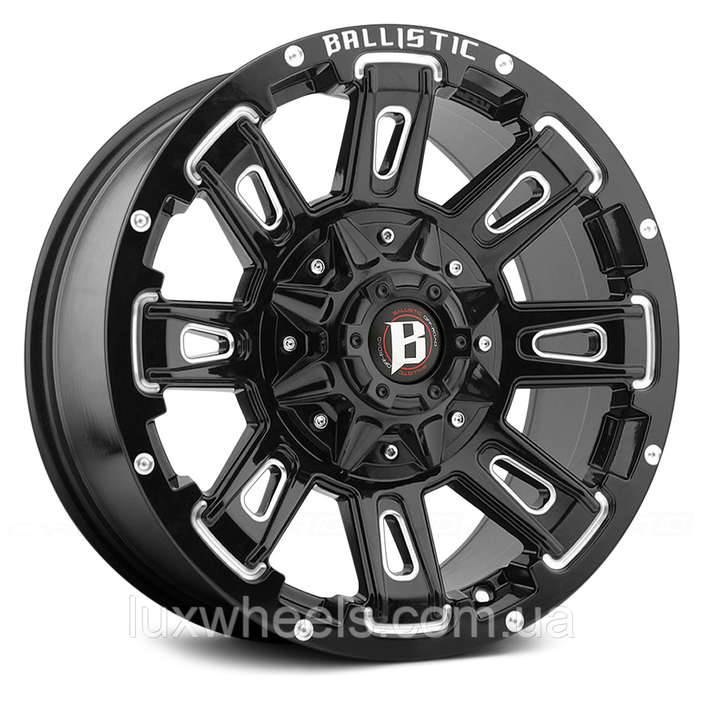 BALLISTIC RAVAGE Gloss Black with Milled Accents