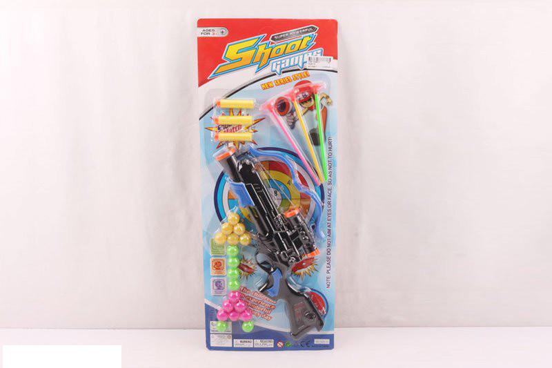 Игровой набор - Пистолет с шариками и снарядами