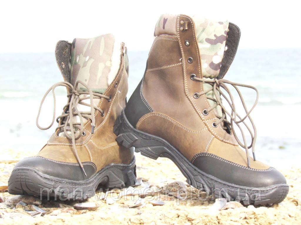 Зимние ботинки, берцы (мультикам)! Размеры 40-45.