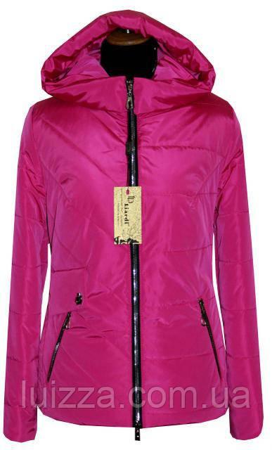 Короткая весенняя куртка 42-56рр малина 50