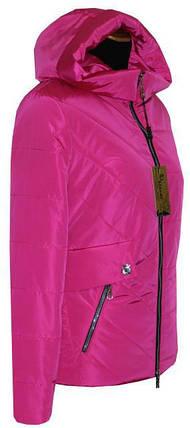 Короткая весенняя куртка 42-56рр малина, фото 2