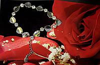 Браслет серебряный 925 пробы женский с фианитами