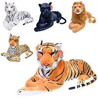 Мягкая плюшевая игрушка Дикие кошки 0303: 5 видов, 66х32см (тигр, леопард, лев, пантера)