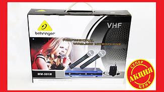 Радиосистема на 2 радиомикрофона+гарнитура Behringer WM-501R