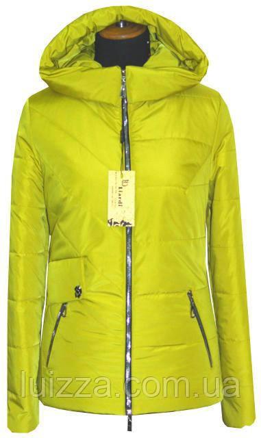 Короткая куртка на весну 42-56рр лимон 52