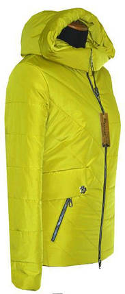 Короткая куртка на весну 42-56рр лимон, фото 2