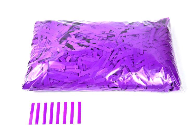 Конфетти тонкие полоски фиолетовые. Вес:50гр.