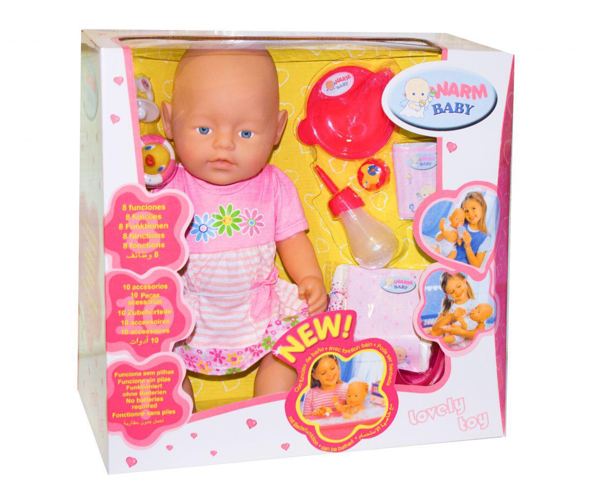 Пупс Baby Born 8 функций 10 аксессуаров 058-17