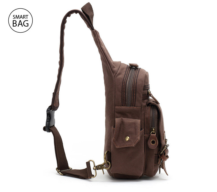 681aa54fc1a9 Небольшой брезентовый рюкзак на одно плечо Augur   цена. Купить в ...