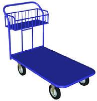 Тележка платформенная с корзиной и поворотным колесом