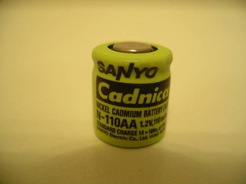 Sanyo N-110AA - 1.2 Volt 110mAh NICD 1/3 AA аккумулятор