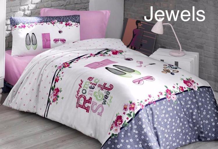 Постельное белье ранфорс First Choice  (полуторное) № Jewels