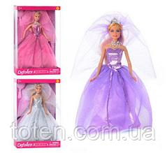 Кукла DEFA 8253 на подставке, расческа, туфли, 3 цвета
