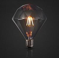 Дизайнерская лампа Эдисона светодиодная 4Вт D120 пирамида, фото 1