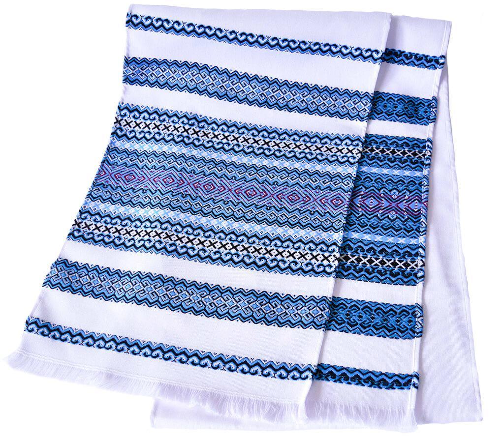 Тканый свадебный рушник «Голубой»