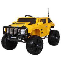 Детская машина электромобиль ДЖИП HUMMER желтый оптом и в розницу