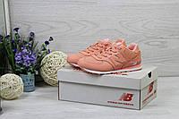 Кроссовки женские New Balance 574 (персиковые), ТОП-реплика, фото 1