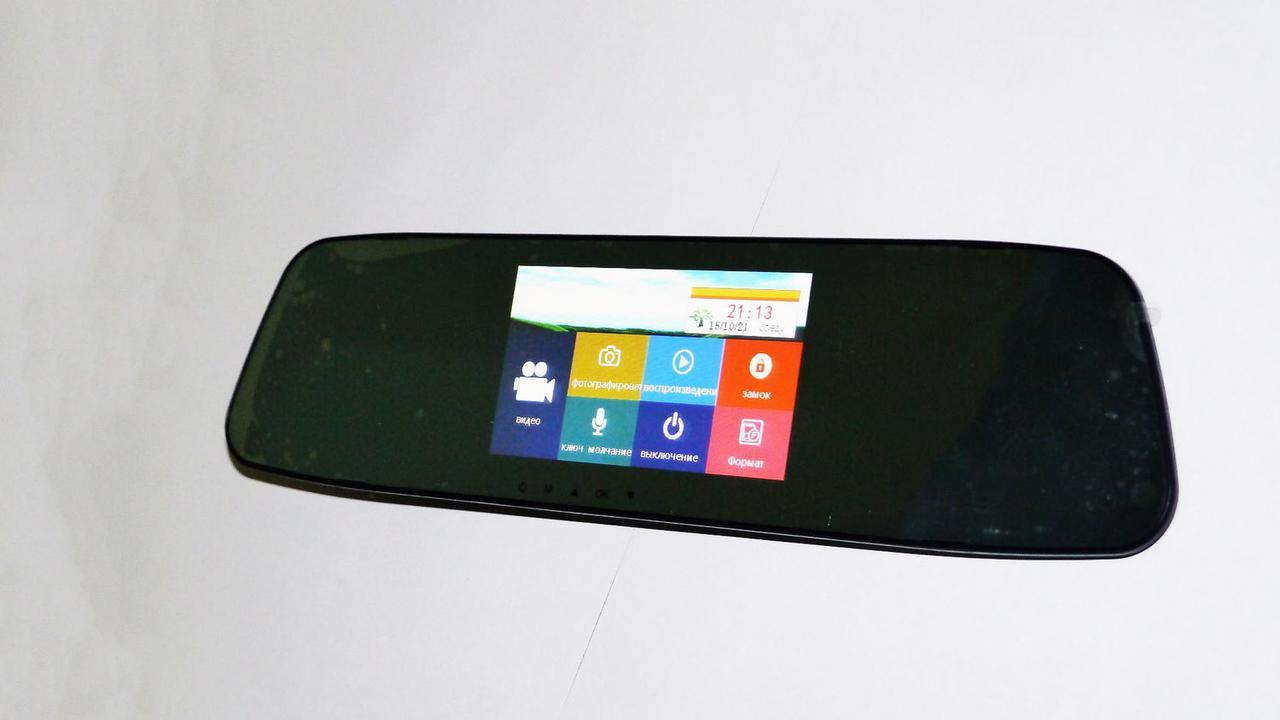 """DVR L505 Full HD Зеркало с видео регистратором с камерой заднего вида. 4.3"""" Сенсорный экран"""
