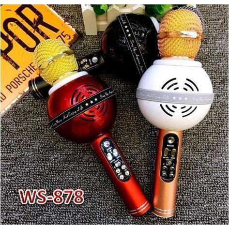 Wster WS-878 Беспроводной караоке микрофон - колонка 2 в 1