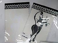 Виниловая наклейка КОШКА  13х10 см  2 цвета