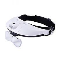 Бинокулярные очки MG81001G с LED подсветкой, увеличение: 1Х 1,5Х 2Х 2,5Х 3,5Х