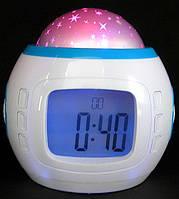 Часы, будильник, звездный проектор Music and Starry Sky Calendar