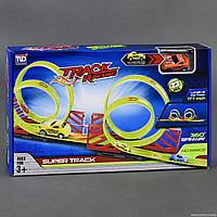 Автотрек 68802 (24/2) 4 петли, 1 машинка, 23 детали, длина 177см, вращение на 360 градусов, в коробке