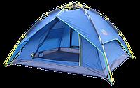 Трехместная двухслойная автоматическая  палатка GREEN CAMP 1831