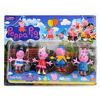 "Набор фигурок Свинка пеппа ""PP"" 12550 4 штуки на листе"