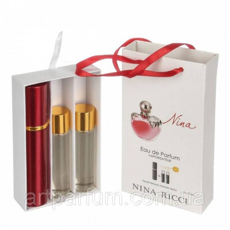 Парфюмированный мини набор для женщин Nina Ricci Nina  3*15 ml