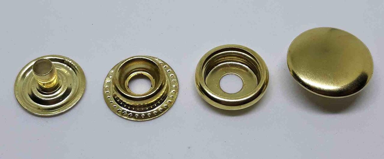Кнопка 15 мм кольцева золото ( в упаковці 10 штук)