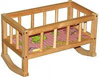 Кроватка деревянная для кукол Винни Пух (ВП-002)