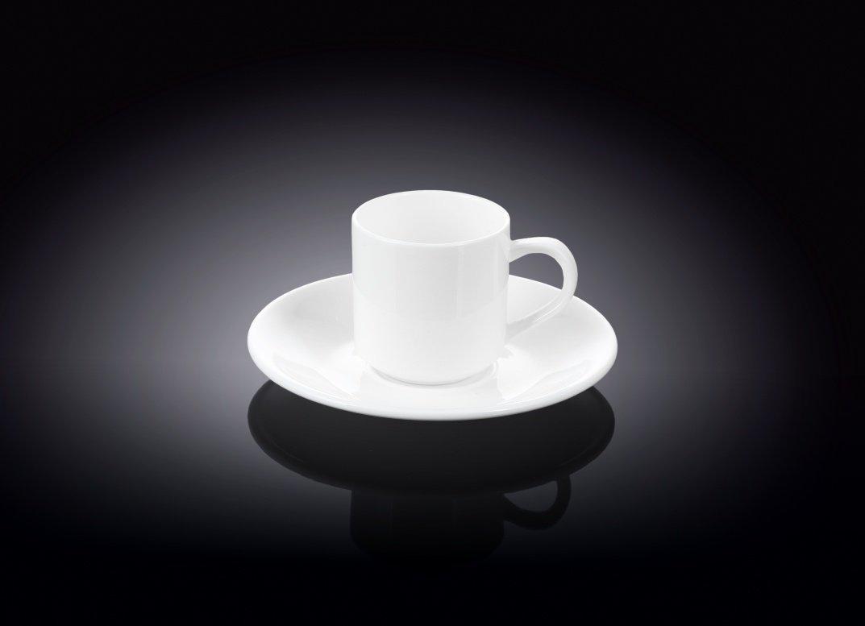 Кофейная чашка и блюдце 90мл. Wilmax WL-993007