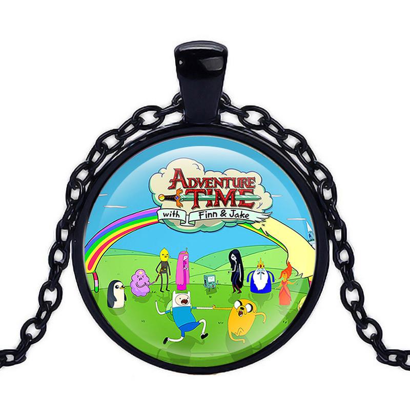 Кулон стеклянная Adventure time intro Время приключений                               черный