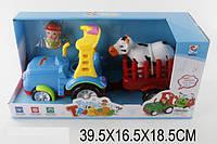 Муз.трактор ZY6604-1A 1325504 18шт2батар,звук, в боксе 39,516,518,5см