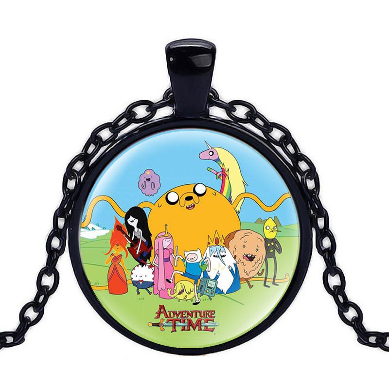 Кулон Adventure time панорамный Время приключений черный
