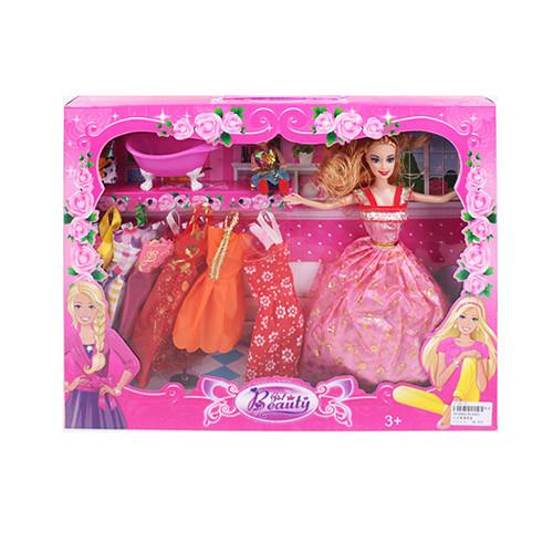 Кукла с нарядом 8144E2 (36шт) 28см, дочка10см, ванна, платья,микс видов, в кор-ке, 32,5-42-5,5см