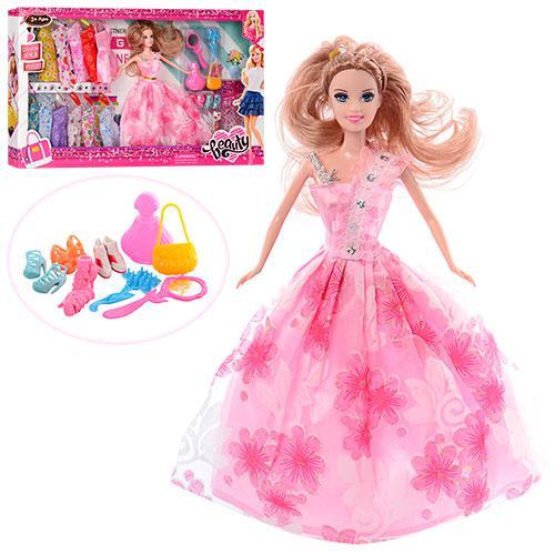 Кукла с нарядом 655C (24шт) 28см, платье 12шт, аксессуары, в кор-ке, 55-33-5,5см
